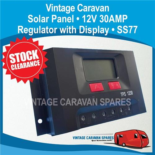 Camper Solar Panel Regulator 12V  30 AMP with Display SS77