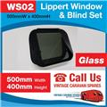 Caravan RV Glass Window & Blind Tinted 500 mm  x 400 mm Push Out WS02