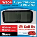 Caravan RV Glass Window & Blind Tinted 1100 mm  x 450 mm Push Out WS04