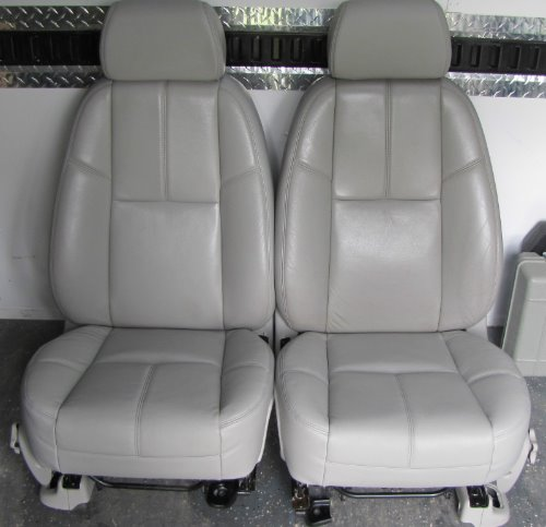 Bucket Seats For Chevy Truck >> Chevy Silverado Grey Leather Bucket Seats Gmc Sierra Yukon Tahoe