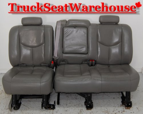 Chevy Truck Tahoe Yukon Xl 2nd Row Grey Leather Bench Seat
