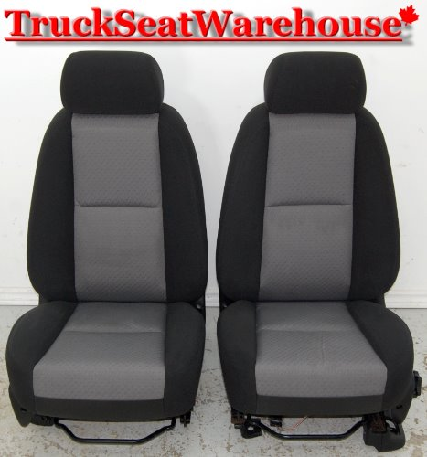 Bucket Seats For Chevy Truck >> Chevy Truck 2011 Silverado Sierra Front Cloth Bucket Seats
