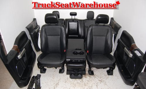 16 Ford F150 Black Leather Interior Truck Seats Power Heat Cool Truckseatwarehouse