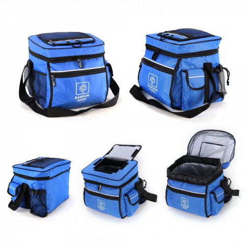 Cooler lunch Bag royal blue and white  G4009