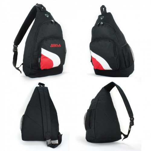 G1485 backpack,slingpack,black,white,red grace collection.
