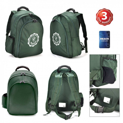 G2147 Ciena Backpack bottle green,grace collection