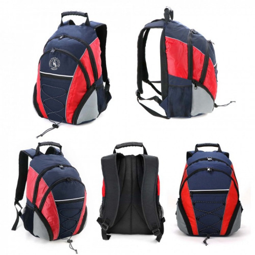 G2140 Fraser Backpack navy red silver, grace collection