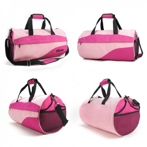 G1616 Roll Sports Travel Bag light pink, hot pink grace collection