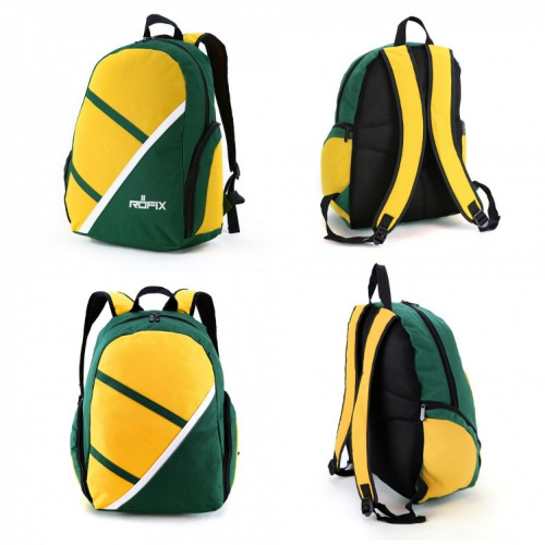 G1602 precinct backpack bottle green gold, white grace collection