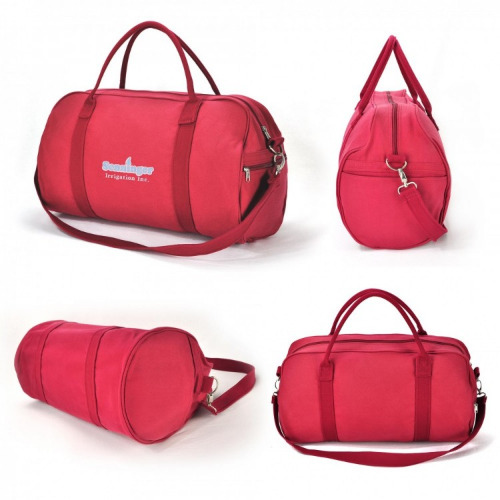 G1405 Canvas Sports Travel Bag red, grace collection