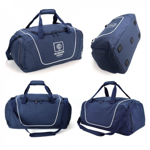 G1365 Hurley sports travel bag navy white, grace collection