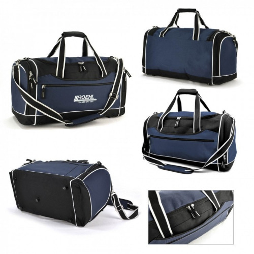 G1341 Delta sports travel bag navy,white,grey grace collection