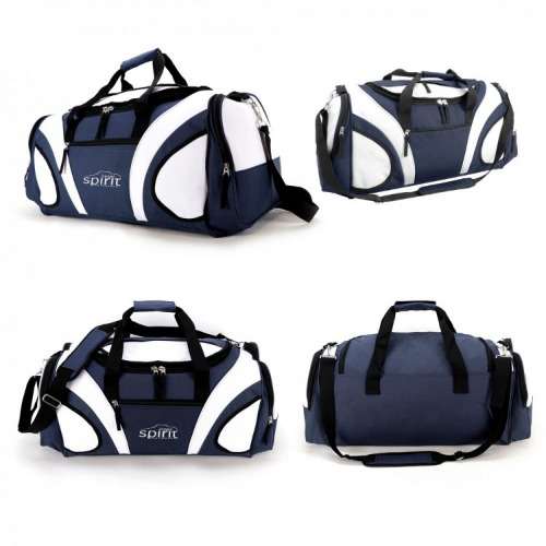 G1215 Fortress sports travel bag navy white grace collection