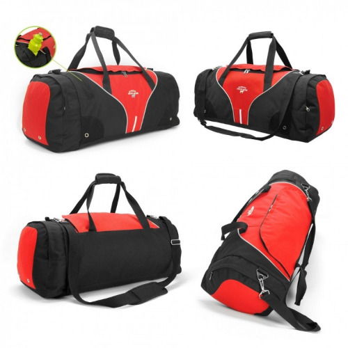 G1188 Inline sports travel bag black, red grace collection