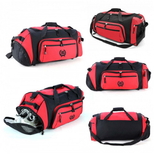 G1120 Soho sports travel bags red,black grace collection