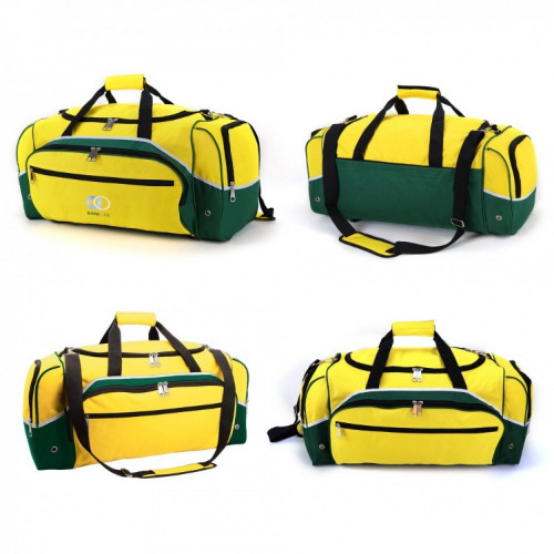 G1082 Advent sports travel bag gold, bottle green grace collection
