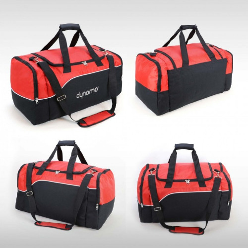 G1022 align sports travel bag black red,white grace collection