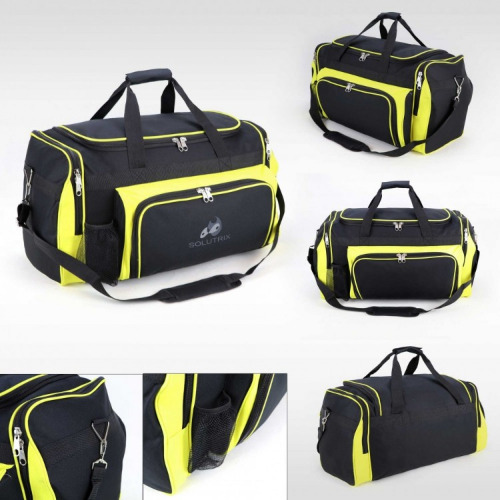 G1000 Classic sports travel bag black yellow grace collection,