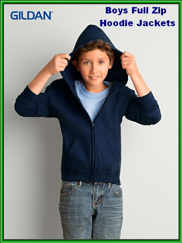 boys full zip hoodie jacket