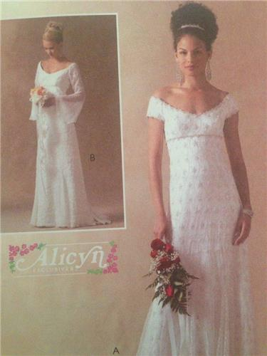 McCalls Sewing Pattern 4714 Wedding Bridal Lined Gowns Size 10-16 ...