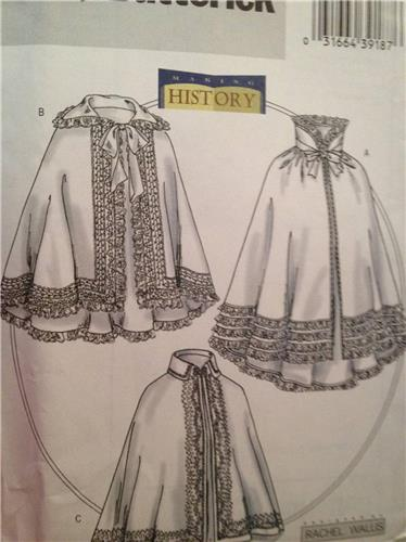 Butterick Sewing Pattern 4419 Misses Medieval Historical Cloak ...