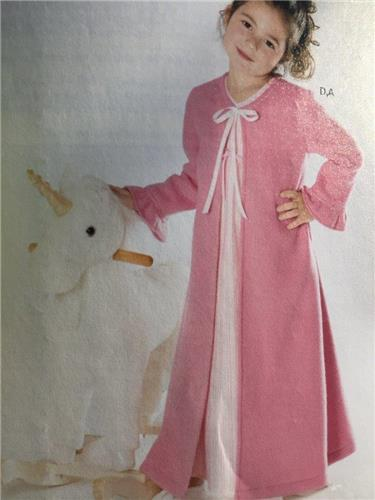 New Look Sewing Pattern 6334 Girls Pyjamas Dressing Gown Size 3-8 ... 88026543b