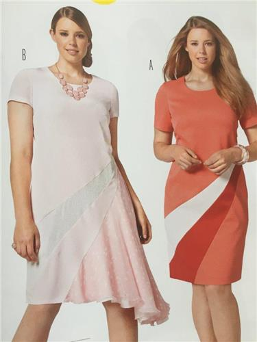 Burda Sewing Pattern 6784 Misses Plus Size Dress Size 18-28 New ...
