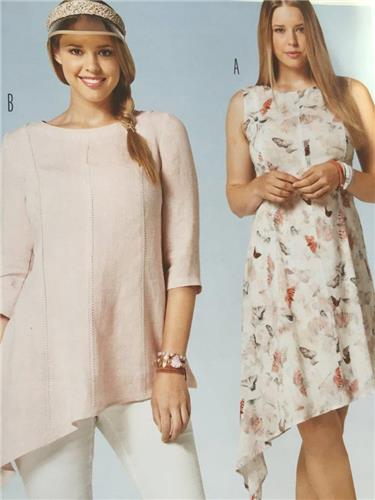 Burda Sewing Pattern 6790 Misses Plus Size Dress Tunic Size 16-28 ...