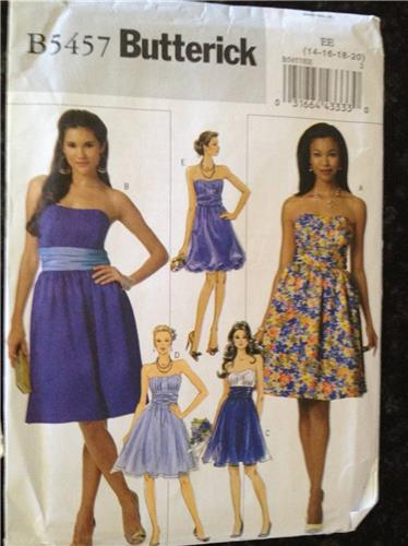 Butterick Sewing Pattern 5457 Ladies Dresses Size 14-20 - SewingPatterns