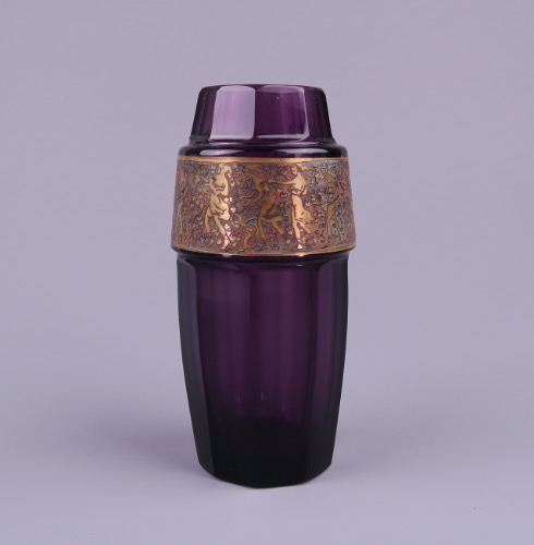 Purple Glass Vase By Moser Karlsbad Approx 1920 Www